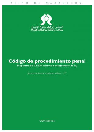 Código de procedimiento penal : Propuestas del CNDH relativas al anteproyecto de ley