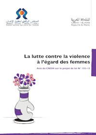 Avis du Conseil national des droits de l'Homme à propos du projet de loi N° 103.13 relatif à la lutte contre la violence à l'égard des femmes